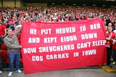 He put Nedved to bed and kept Eidur down now Shevchenko can't sleep cos Carras in town