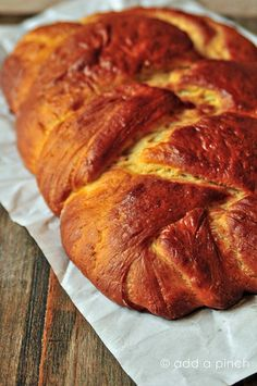 My favorite yeast bread - a great Challah Bread recipe from @addapinch | Robyn Stone