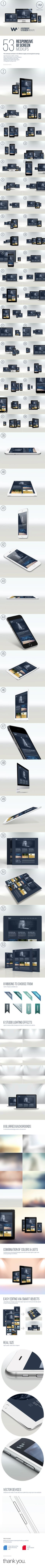 50+ Ui Responsive Website & App Showcase Mockups