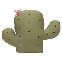 Kinderzimmer Spielkissen 'Kaktus Opuntia' grün 45x58cm