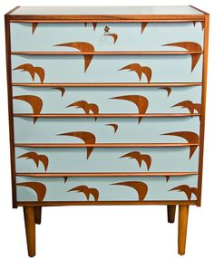 Danish 1960's Chest of Drawers Upcycled by Lucy Turner