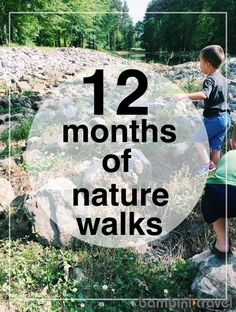 12 Months of Nature Walks preschool walks. One for every month of the year. Outdoor Education, Outdoor Learning, Kids Learning, Outdoor Play, Nature Activities, Science Activities, Outdoor Activities, Toddler Activities, Months In A Year