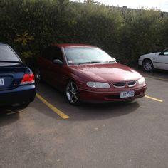 like my first car ? :) #holden#vt#custom#hoon#car#low#pimp#red#marone#rims#