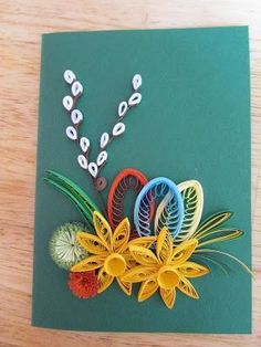 Paper Quilling Flowers, Paper Quilling Cards, Paper Quilling Patterns, Neli Quilling, Quilling Craft, Paper Crafts Origami, Quiling Paper Art, Quilling Techniques, Button Crafts