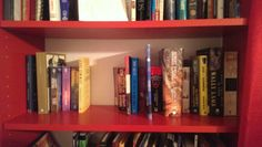 Book list shelf May 16. My book list is growing as the year goes on. Oh crap.