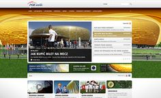 PGE Arena: Web page for an amber stadium - Jamel Interactive interactive agency Gdansk, Tricity