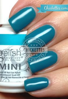 Gelish Garden Teal Party Swatch - Love in Bloom Collection