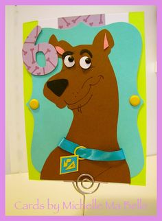 Scooby Doo Birthday Card Handmade Card by Michelle Ma Belle