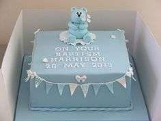 square christening cake - Google Search