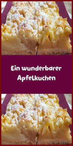 Ein wunderbarer Apfelkuchen Another great recipe with which you can use fruit from the garden, namel Dessert Simple, No Bake Desserts, Easy Desserts, Dessert Recipes, Dessert Nouvel An, How To Cook Cauliflower, New Cake, Food Cakes, Cheesecake Recipes