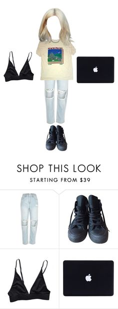 """""""."""" by mooniverse ❤ liked on Polyvore featuring River Island and Converse"""