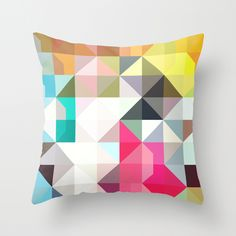 Pixelated Warfare Pillow / Amanda Millner McAdoo