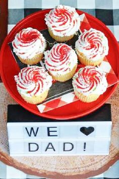 The cupcakes at this Father's Day party are so cool! See more party ideas and share yours at CatchMyParty.com