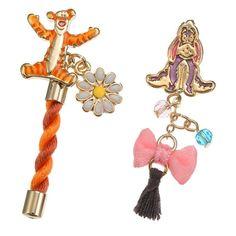 Japan Disney Store Winnie The Pooh & Friends Tigger & Eeyore Pierce Earrings  | eBay