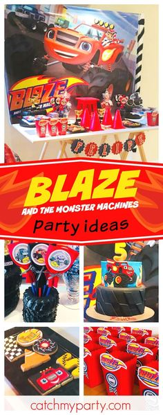 Check out this cool Blaze and the Monster Machine birthday party!! The sugar coated cookies are awesome!! See more party ideas and share yours at CatchMyParty.com #partyideas #catchmyparty #blazeandthemonstermachines #boybirthdayparty