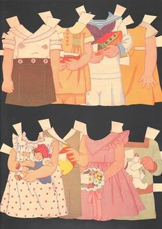 PAPER DOLLS-JERRY, JANE, PETER, PEGGY 1935 OVER 200 PIECES | eBay