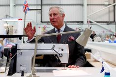 Prince Charles visits bespoke shirt makers Turnbull & Asser in Gloucestershire