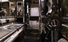 BLADERUNNER - Interior Concept. Deckard's Apartment - Syd Mead