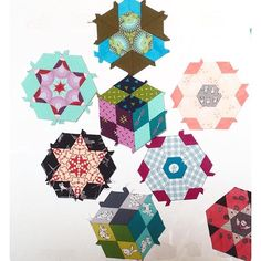 new glorious hexagon blocks #glorioushexagons #katjamarek #thenewhexagon