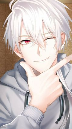 Mystic Messenger Zen - this photo cleansed my skin aaHHHH-- Anime Chibi, Chica Anime Manga, Kawaii Anime, Anime Boys, Cool Anime Guys, Anime Boy Smile, Art Anime Fille, Anime Art Girl, Garçon Anime Hot