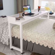 Untitled Mobile Desk, Mobile Office, Overbed Table, Counter Height Dining Table, Home Office Decor, Home Decor, Office Desk, Wooden Desk, Queen Size Bedding