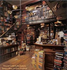 Flourish And Blotts bookshop in London, England