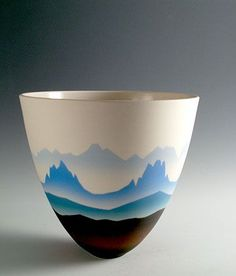 "Ceramics by Peter Lane at <a href="""" rel=""nofollow"" target=""_blank""></a>2005. Porcelain, Mountain Mist series."