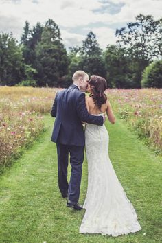 A serene meadow covered in wildflowers set the scene for these gorgeous nuptials | Claire Penn Photography