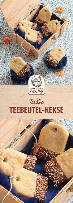 Sweet tea bags - Aunt Fanny- Süße Teebeutel – Tante Fanny The highlight on your cookie plate? How about our teabag cookies. The sweet shortbread biscuits are guaranteed to succeed. Tea Bag Cookies, Sweet Cookies, Fall Desserts, Health Desserts, Wallpaper Food, Wallpaper Quotes, Cookie Recipes, Snack Recipes, Pumpkin Spice Cupcakes