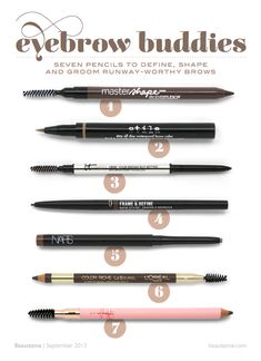 Eyebrow Buddies: 7 Pencils to Define, Shape and Groom Runway-Worthy Brows. It cosmetics All Things Beauty, Beauty Make Up, Diy Beauty, Beauty Hacks, Love Makeup, Makeup Tips, Makeup Obsession, Tips Belleza, Up Girl