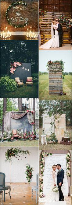 unique wedding ideas - wedding backdrop ideas / http://www.deerpearlflowers.com/wedding-backdrop-ideas-from-pinterest/ #gardenweddings