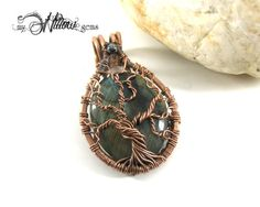 Heart backed Labradorite Tree of Life Pendant  by MyWillowGems, $60.00