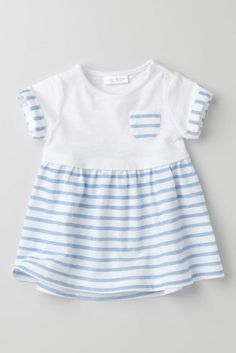 Buy Blue Stripe Jersey Dress (0-18mths) online today at Next: United States of America