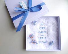 Ein paar Flocken Geldgeschenk Weihnachten von schnurzpieps auf DaWanda.com