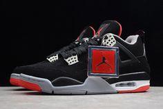 "1054e35fe86f0c 2019 Air Jordan 4 Retro ""Bred"" Black Red 308497-089"