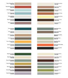Midcentury modern color palette http://decdesignecasa.blogspot.it/