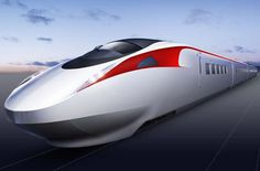 kawasaki  White Red refined concept exterior train high speed