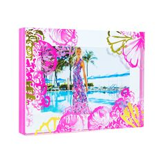 Lilly Pulitzer Photo Frame, Coco Coral Crab
