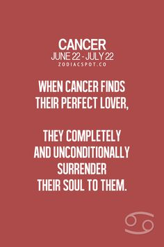 Cancer Zodiac Sign finds their perfect lover...