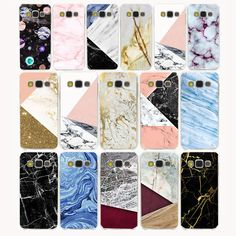 2031G Color Marble Pattern Hard Transparent Case Cover for Galaxy S6 S7 S8 & edge Plus S2 S3 S4 S5 & Mini case