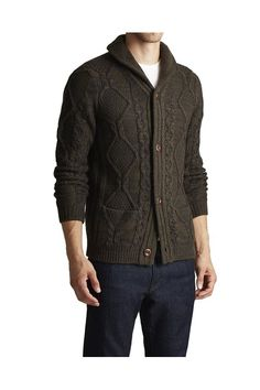 Shawl Cableknit Cardigan - Paisley & Gray - Sweaters : JackThreads