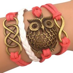 Coral Owl Arm Party Bracelet