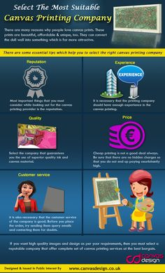 Infographic showing the major reasons why you should choose canvasdesign to carry out all your canvas printing.