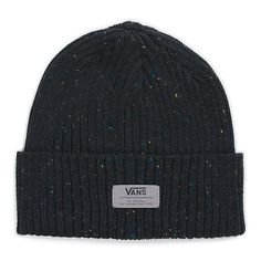 891258be017 The Midvale Beanie is a 100% acrylic nep cuff beanie with a Vans deboss  patch