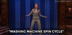 New party member! Tags: fallontonight tonight show jennifer lopez washing machine dance battle spin cycle