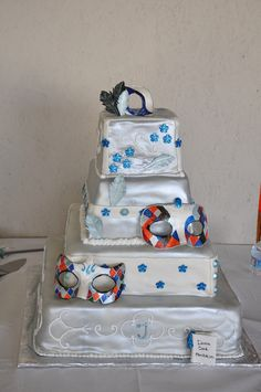 Masquerade Quincenera Cake! By Adair Weddings