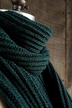 Ravelry: Mistake Rib Scarf pattern by Purl Soho | Awesome pattern and awesome color