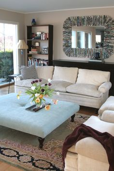 A great DIY Ottoman project for you living room!