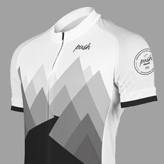 Push PEAK1 Grey.Push Short sleeved summer cycling jersey, made from functional materials for a comfortable ride. Designed in Sweden. Push yourself. Push your limits. Push Cycling Apparel.