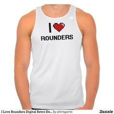 I Love Rounders Digital Retro Design Tees Tank Tops